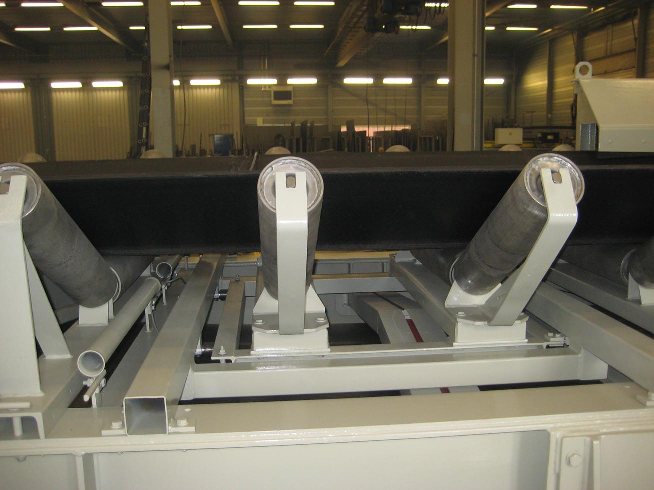 Eingebaute Zweirollen-Förderbandwaage für 2.000 t pro h